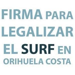 Prohibido hacer Surf en Orihuela, costa de Alicante